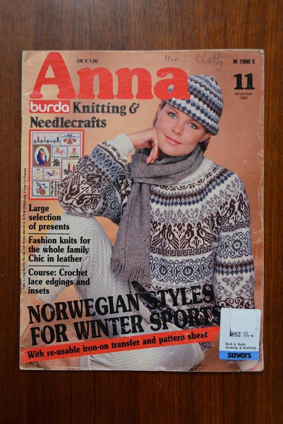 Burda Knitting And Needlecraft November 1983 Anna