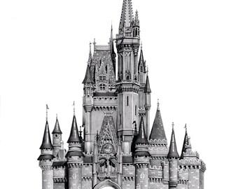 Cinderella Castle Print