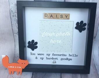 Personalised Cat Memorial, Cat Photo Frame, Paw Prints, Handmade Cat, Cat Memorial Gift, In loving memory cat, Cat Frame, RIP cat gift