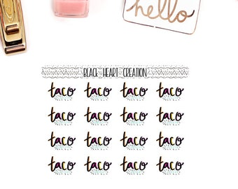 Taco Tuesday deco planner stickers