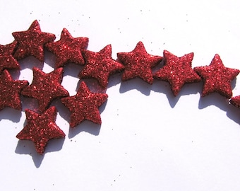 Cluster stars red Christmas Floristdeko star Glitter stars