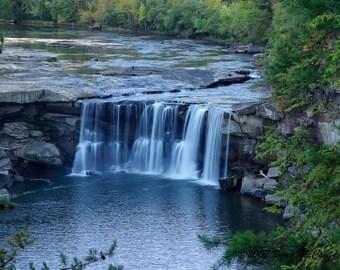 Low Water at Cumberland Falls State Park. #5484