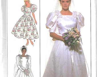 Simplicity 9051 Belle FranceMisses And Petite Bridal Dress, Wedding Gown And Bridesmaid Dress Pattern, Sizes 10, 12 & 14, UNCUT