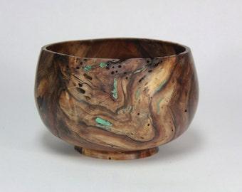 Decorative walnut burl bowl