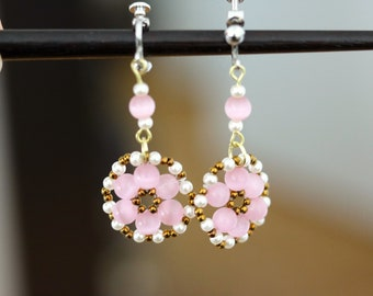 Cherry Blossom Sakura Beads Earrings