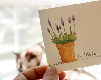 lavender note cards - floral note card set - watercolor notecards
