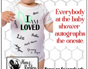 Baby Shower / Baby's 1st Birthday Autograph Bodysuit / Romper / Creeper - Baby Shower Must Have - Perfect for Boy or Girl (R4400) #1331