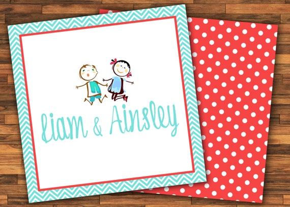 calling cards kids sister brother gift stickers gift tags