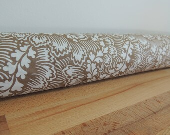 Door draft Stopper. Door or window snake. Draught excluder. House and home accessory.eco friendly energy saver. leaf print draft stopper.