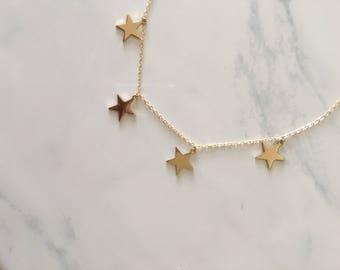 Jack • 4 Star Charm Necklace