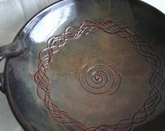 Pottery Bowl, Stoneware, Wedding gift, Serving bowl, Artisanal work