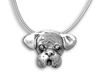 Silver Boxer Pin Pendant
