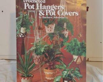 Vintage Crochet Book   Crocheted Pot Hangers & Pot Covers