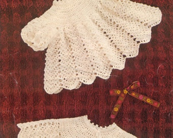 Vintage crochet pattern for a angel top and coat