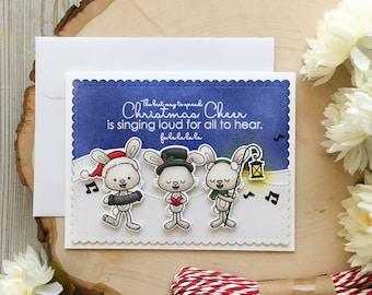 Handmade Christmas Card, Merry Christmas, Christmas Cards, 3D, Seasons Greetings, Choir, Fun, Greeting Card, Holiday, Seasons Greetings,