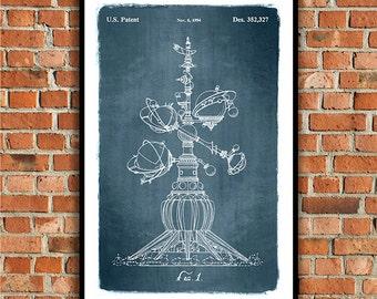 Disneyland / Disney World Astro Orbiter Ride, 1994 Patent Art Print