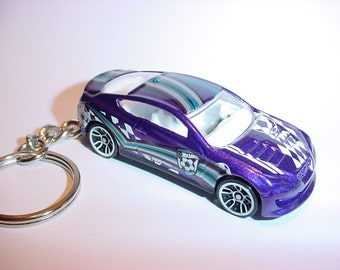3D Hyundai Genesis Coupe Custom Keychain By Brian Thornton Keyring Key  Chain Finished In Purple/