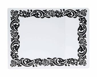 card with embossed embossed frame for scrapbooking