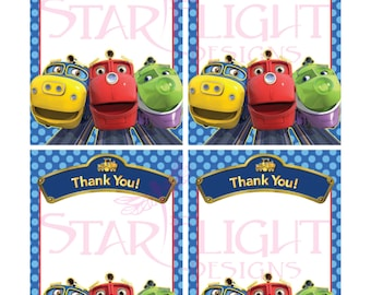 Chuggington Thank You Cards - Printable PDF - Instant Download