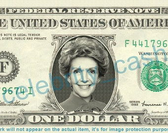 Nancy Reagan REAL Dollar Bill - First Lady