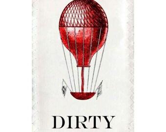 Lave-vaisselle aimant propre sale aimant de ballons Air chaud victorien flip signe signe bleu rouge femme cadeau d'hôtesse