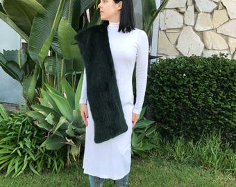 Faux fur wrap stole Old Hollywood Glamour