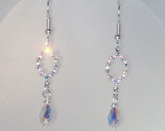 Swarovski Crystal Jewelry - Bridal Earrings - Bride, Bridesmaids, Maid of Honor - Clear AB Crystals