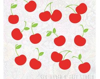 Rain of Cherries Wall Vinyl Decals Art Graphics Stickers