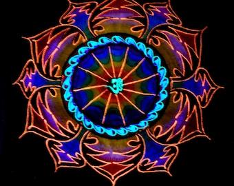 Psy AUM Mandala Shirt UV Unisex Embroidered -  FREE Shipping