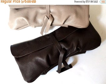 SALE 15% Brown Leather Clutch, Women's Gift, For Her, Leather Wallet Clutch, Soft Leather Long Clutch, Evening Clutch Bag, Leather Handbag P