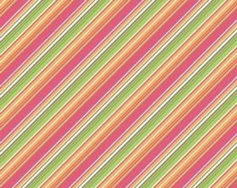 My Minds Eye for Riley Blake, Summer Song, Summer Stripe in Pink C7056 - 1 Yard - Clearance