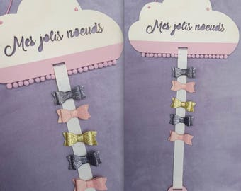 Rack / holder personalized cloud hair clips / personalized / name