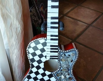 The Time Hand Painted Guitar On Sale!