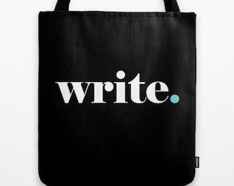 Writer Tote Bag, Write Tote, Writer Tote, Write Tote Bag, Writer Inspiration, Writer gift, Author Gift, English Major, Writer book bag, word