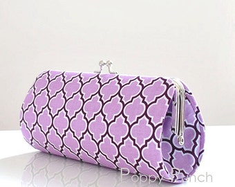 Lodge Lattice in Lilac..Small Clutch Purse