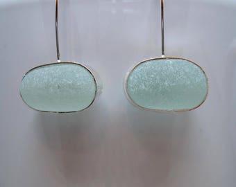 Sea Glass Earrings - Seafoam Sea Glass Earrings (Small)
