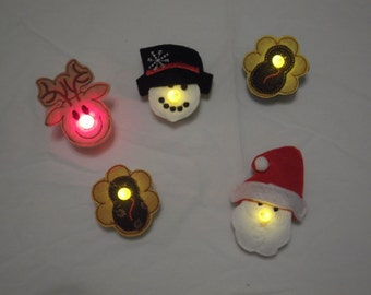 Christmas and Thanksgiving teal light pins!