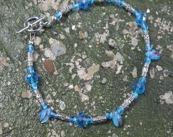 Blue Czech Crystal Bracelet
