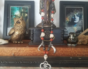 Hekate Key and Moon Necklace
