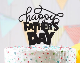 Happy Father's day cake topper - Father's day Topper - father's day Cake Topper- Customizable father's day Cake Topper- father's day