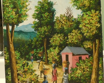 Wonderful Haitian OIl Painting by MICHEL