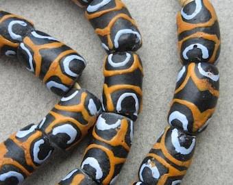 Krobo Glass Beads (10x17mm) [65574]