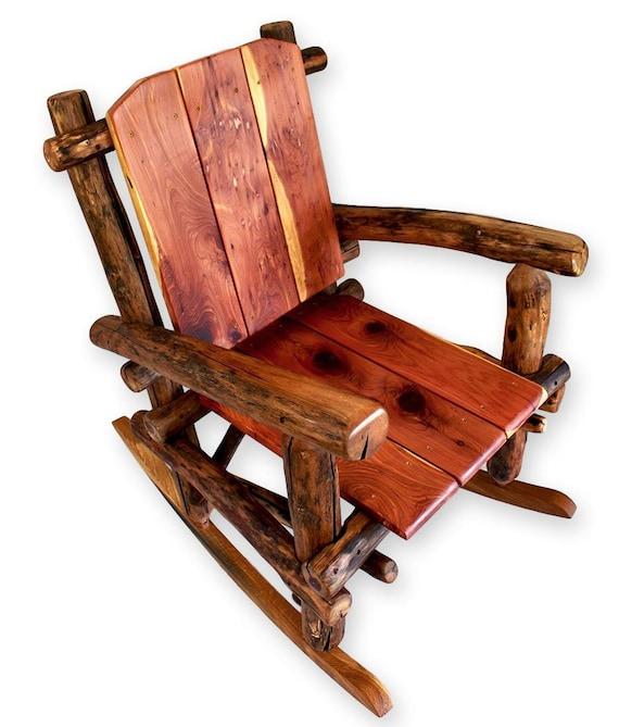 Etonnant Log Furniture Rocking Chair Reclaimed Wood Chair Rustic