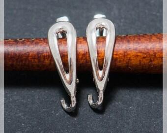 Sterling Silver Leverback, Ear hooks, Ear wire,  earrings components B17