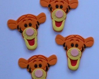 12 edible TIGGER from WINNIE the POOH baby shower christening cake cupcake topper decoration wedding anniversary birthday valentine cookie
