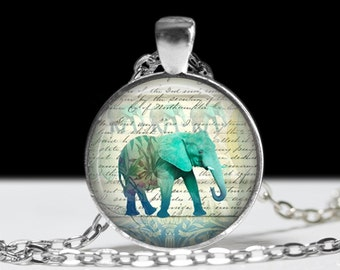 Elephant Necklace Elephant Jewelry Necklace Wearable Art Pendant Charm Elephant Pendant Charm Pink