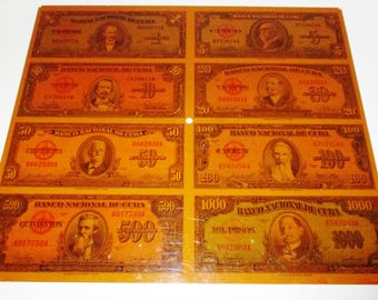 Vintage American Bank Note Company Currency Decoration Copy of Cuban Bills – Copy is a Larger Version of The Real Currency Bills