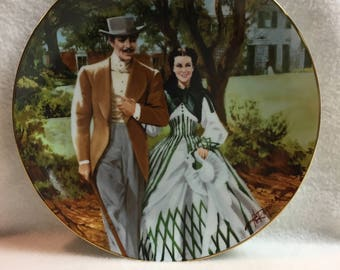 W.L. George Gone with the Wind Golden Anniversary Series Collector Plate - 'Home to Tara' (#263)