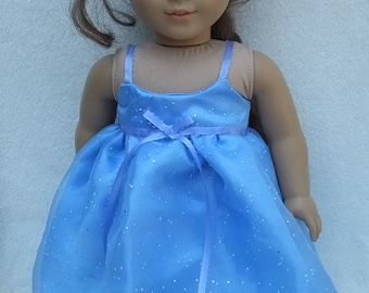 American Girl and 18 Inch  Doll Sparkling Party Dress