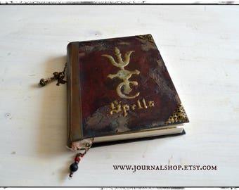 Handmade Spell book,  Book of Shadows, Mystical Journal, Junk Journal, Grimoire, earth magic notebook